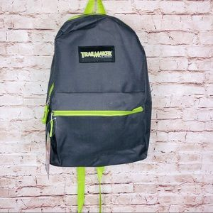 Neon green & Gray trail maker classic backpack